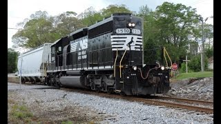 HD: NS 3510 leads NS Train G66 in Sargent, GA