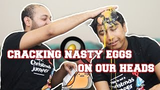 EGG ROULETTE CHALLENGE (With different rules) | crack nasty eggs on your  head | B-deshi