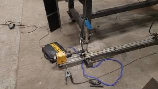 Plasma Cutting Chassis Tube on Homemade Notcher