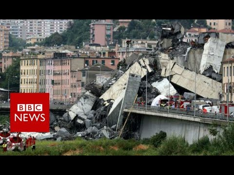 Xxx Mp4 Italy Bridge Genoa Motorway Collapse Kills At Least 22 BBC News 3gp Sex