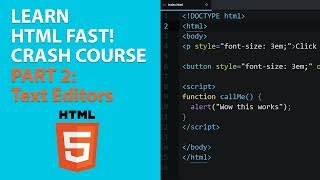 [2018] Learn HTML for Beginners Crash Course: PART 2