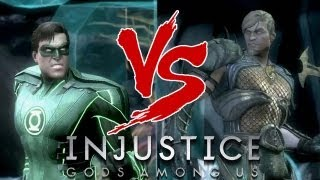 Injustice Gods Among Us: Green Lantern VS Aquaman