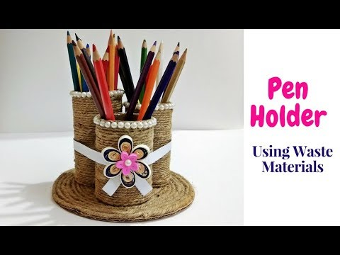 Xxx Mp4 How To Make Pen Holder Stand Using Waste Material Jute Craft Handmade Pen Stand Craftastic 3gp Sex