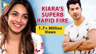 Kiara Advani's ENTERTAINING Rapid Fire On Varun Dhawan | Virat Kohli