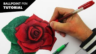 How to Draw with BALLPOINT PENS | Tutorial for BEGINNERS