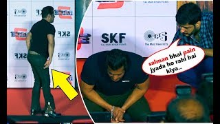 Salman Khan Suffers From Severe Back Pain At Race 3 Trailer Launch