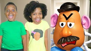 MR POTATO HEAD TOY vs Shiloh and Shasha! - Onyx Kids