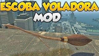 GTA V Online Escoba VOLADORA!!! Gameplay Con Escoba de Bruja MOD Divertido Increible GTA 5 Online