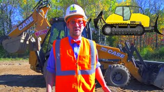 Blippi Learns About Construction Vehicles | Trucks For Kids | Educational Blippi Videos For Toddlers