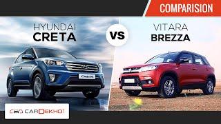 Hyundai Creta vs Maruti Suzuki Vitara Brezza | Comparison Review