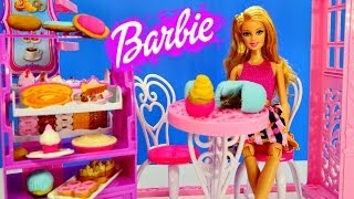 Barbie Bakery Life In The Dreamhouse Play Doh Cake Cookies and Playdough Cupcakes Baking Toys