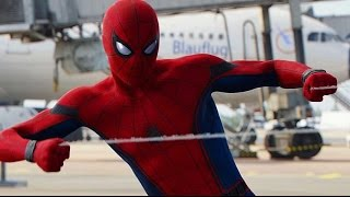 Spider-Man Fight & Swinging Scenes - Captain America Civil War Best Moments HD