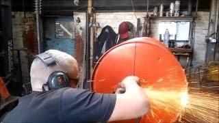 Oil Barrel BBQ Homemade Scrap Metal