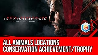 Metal Gear Solid V: The Phantom Pain - All Animal Locations (Conservation Achievement/Trophy)