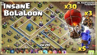 3 LAVA+ 30 BALOONS+ 6 BOWLERS= Insane BoLaLoon | TH12 War Strategy #69 | COC 2018 |