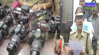 OLX RENTED DSLR CAMERAS RECOVERED IN OLD CITY & ARREST 2 BTECH STUDENTS