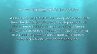 Advantages and disadvantages of technology