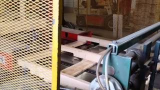 How wood pallets are made with a machine