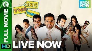 One Two Three | Full Movie LIVE on Eros Now | Suniel Shetty, Tushar Kapoor, Paresh Rawal & Esha Deol