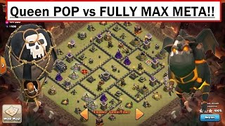 NEW TH9 LALOON ATTACK. Queen POP. 3 Star any Max TH9. Fully Max Meta Base! Update Clash of Clans War