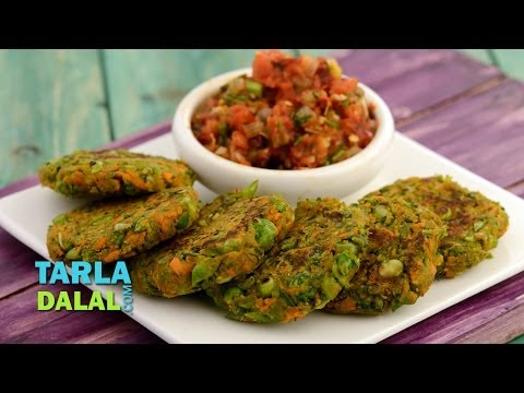 Karela Tikki (Diabetic Snack), Recipe in Hindi (करेला टिक्की) by Tarla Dalal