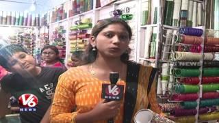 Night Bazar   Ramzan Special Night Shopping At Charminar   Hyderabad   V6 News