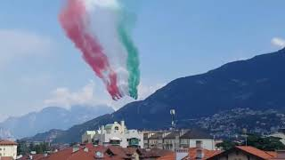 Frecce tricolori trento 91°adunata alpini