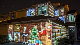 christmas house projection mapping