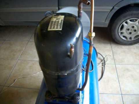 compressor 100l caseiro com motor de ar condicionado