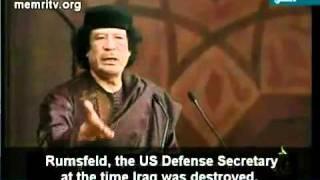 صراحة القذافي وفضح صدام حسين والحكام والعمالة لامريكا