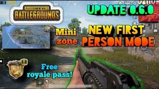 New update 0.6.0 | First Person Perspective mode || Player unknown battlegrounds mobile (pubgm)