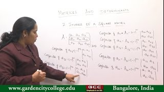 Matrices and Determinants - Part 2 by Dr. Nandhini S