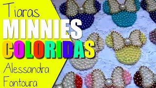 Tiara da Minnie em pérolas - Ideia de cores