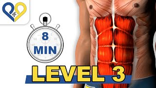 8 Min Abs Workout - Level 3 - P4P Music