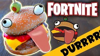 Real Life DURRR BURGER from Fortnite! Greasy Grove