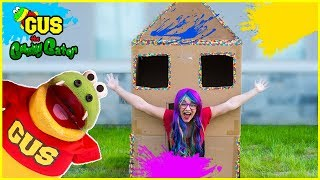 Learn Colors with Paint and Build Box Fort!