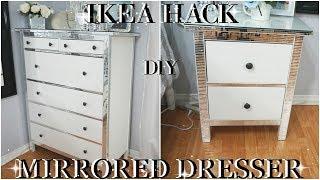 IKEA HACK | 2018 INEXPENSIVE | DIY BLING MIRROR DRESSERS | DIY ROOM DECOR  DRESSER MAKEOVER