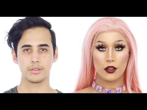 Xxx Mp4 Pretty In Pink Drag Queen Makeup Tutorial Ft Sabrina Slayer 3gp Sex