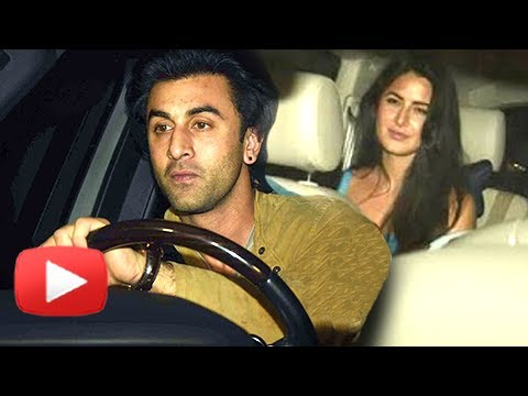 Ranbir Kapoor And Katrina Kaif At Karan Johar Birthday Bash 2017