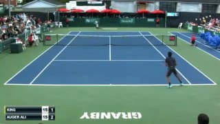 Auger Aliassime's 16 winners vs Darian King (plus other amazing rallies/shots), Granby 2015 2R