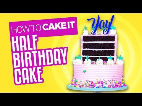 Chocolate & Banana Half Birthday Cake How To Cake It