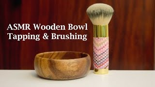 ASMR Introduction: Binaural ear to ear whispered wooden bowl tapping and brushing