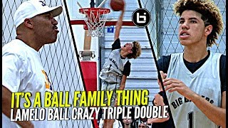 LaMelo Ball CRAZY TRIPLE DOUBLE Same Day as Big Bro Lonzo! It