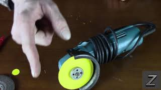Will a angle grinder with a DIY paper cut off blade really cut PVC and wood