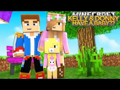 LITTLE KELLY & DONNY HAVE A BABY?? (PART 4) - Minecraft - Little Donny Adventures.