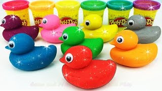 Learn Colors Play Doh Ducks Strawberry Popsicle Ice Cream Peppa Molds Fun & Creative for Kids Rhymes