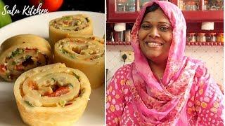 ഈ അടിപൊളി സ്നാക്ക് ഇനി നമ്മുടെ അടുക്കളയിലും   Salu Kitchen Snack Specials   Pan Pizza Roll