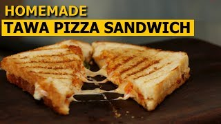Tawa Pizza Sandwich Recipe in Hindi |  तवा पिज्जा सैंडविच | No Oven | Easy & Quick Recipe