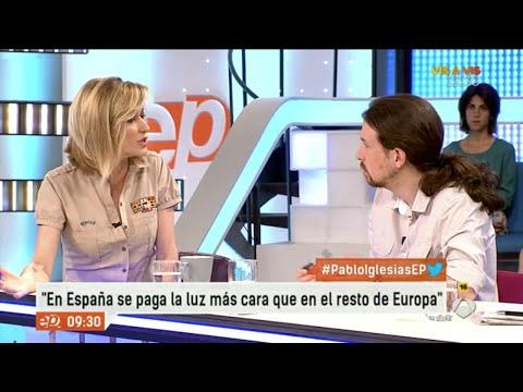Pablo Iglesias le da una lección a Susanna Griso sobre la dación en pago