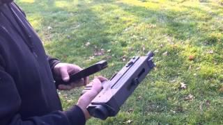 MAC 10 Full Auto Sub-Machine Gun Shooting in the Backyard